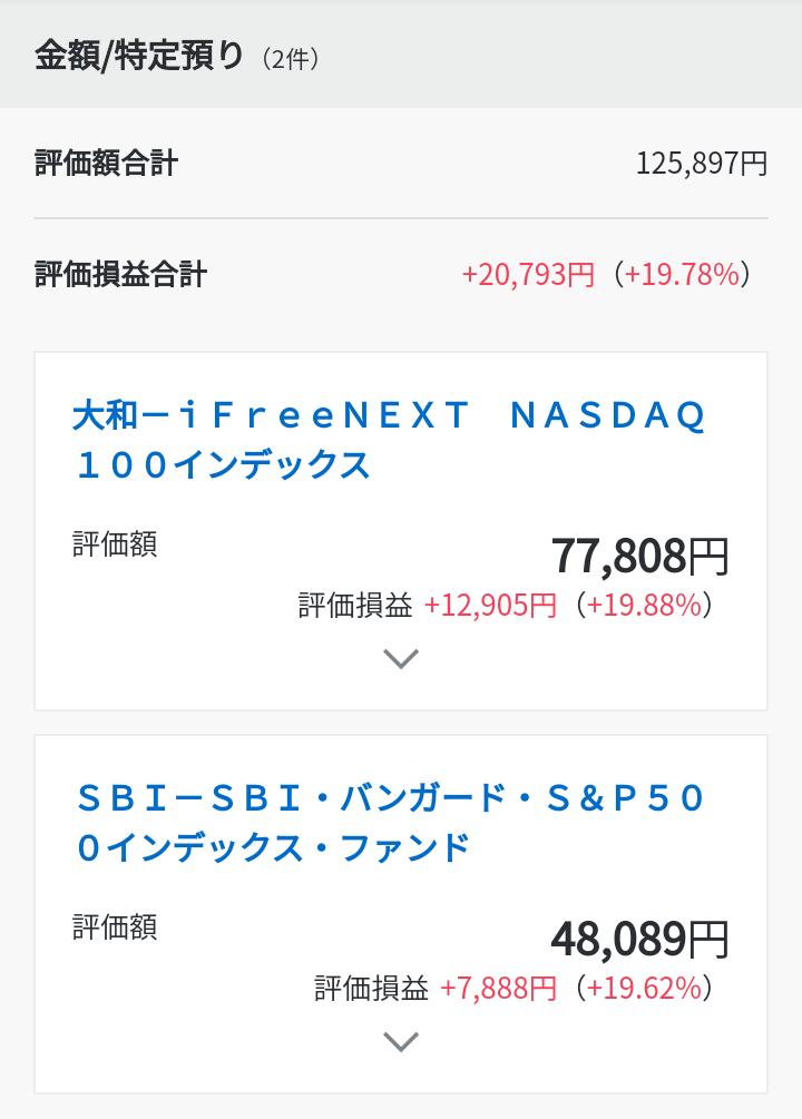 iFreeNEXT NASDAQ 100インデックスなど(2021年3月上旬)運用状況です